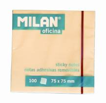bloc notes adeziv Milan 75x75 mm 100 file